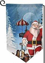 AllenPrint House Yard Flags,Weihnachtssankt Nachts