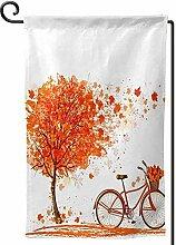 AllenPrint Outdoor Seasonal Flag,Herbst Ahornbaum