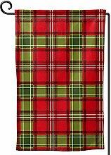 AllenPrint Outdoor Seasonal Flag,Weihnachtsrote
