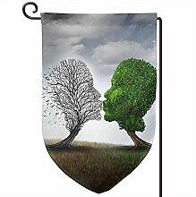 AllenPrint Outdoor Yard Flag,Baum des Lebens Dead