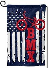 AllenPrint Outdoor Yard Flag,BMX Usa Amerikanische