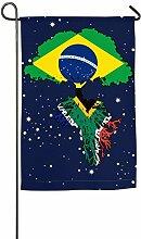 AllenPrint Outdoor Yard Flag,Brasilien Flagge