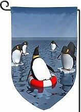 AllenPrint Outdoor Yard Flag,Lustige Tier Pinguin