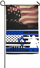 AllenPrint Outdoor Yard Flag,Veteran American