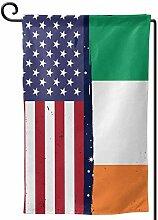 AllenPrint Seasonal Garden Flag,Irische Flagge Usa