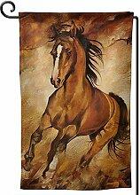 AllenPrint Seasonal Garden Flag,Schokoladenpferd