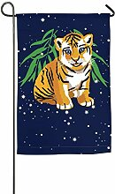 AllenPrint Seasonal Garden Flags,Tiger Animals
