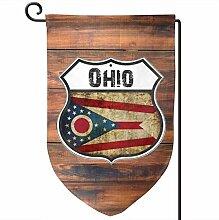 AllenPrint Yard Flag,Ohio Flag Shield Outdoor