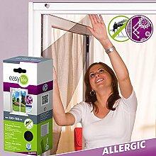 ALLERGICpro Pollenschutzgewebe Fenstergitter Insektenschutzgitter - 130 x 150 cm - anthrazi
