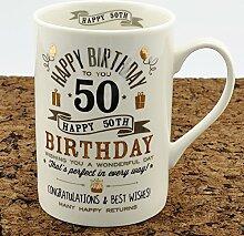alles Gute zum Geburtstag 50. Becher