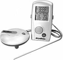 Allgrill Grillzubehör Funk-, Grill- und Ofen-Thermometer, Mehrfarbig, 2-teilig