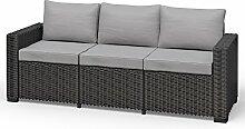 Allibert California 3-Sitzer Couch Polyrattan