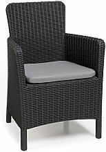 Allibert Dining Sessel Trenton, Graue Kunststoffstühle Garten