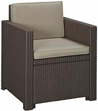 Allibert Lounge Sessel Victoria mit Kissen,