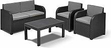 Allibert Lounge Sitzgruppe Mississippi Tisch