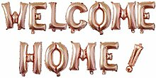 Allinlove 12 Stück Welcome Home Ballon Helium