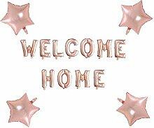 Allinlove Welcome Home Ballon Helium Buchstaben
