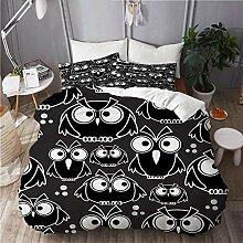 ALLMILL Bedding Bedrucktes Bettbezug-Sets,Symbole
