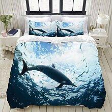 ALLMILL Bedding Bettwäsche-Set,Bottlenose Dolphin