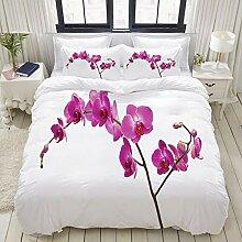 ALLMILL Bedding Bettwäsche-Set,Wilde Orchideen