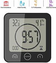 ALLOMN LCD Temperatur Luftfeuchtigkeit Uhr,