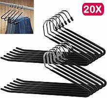 AllRight 20 Stk Metall Kleiderbügel Hosenbügel 8