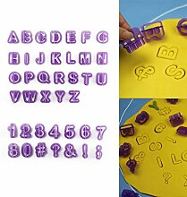 AllRight 40 Teile Ausstechformen Buchstaben Und