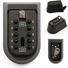 Allright Schlüssel-Safe für Home Außeneinsatz mit Zahlenschloss 10-digital Passwor
