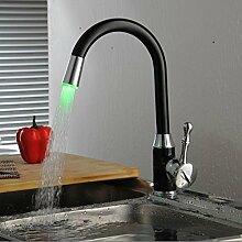 AllureFeng LED Küche Armaturen schwenkbare Waschbecken-Mischbatterie