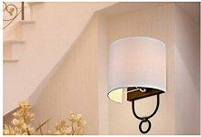 AllureFeng LED Wandleuchte mit einem leichten Eisen Schlafzimmer Wandleuchte für Flur Dekoration