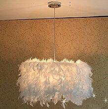 AllureFeng Weiße Feder Dekoration Ideen stilvoll modernen minimalistischen Wohnzimmer Schlafzimmer Esszimmer Kronleuchter