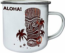 Aloha Hawaii Tiki Totem Palmen Retro, Zinn,