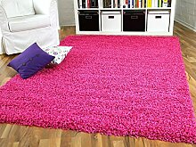 Aloha Hochflor Langflor Shaggy Teppich Pink Rosa