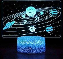 Alpaka 3D Nachtlicht LED Schlafzimmer Dekoration