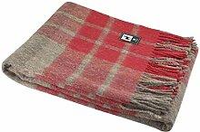 Alpaka-Wolldecke mit Schottenmuster, warm, weiches