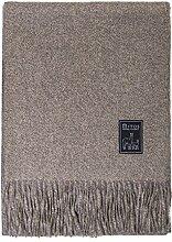 Alpakadecke - Braune Wolldecke sand beige Natur in Hotel Suite Qualität Baby Alpakadecke 100% Wolle Wohndecke Kuscheldecke