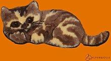 Alpenwolle Dekokissen Katze