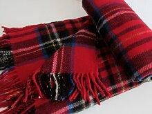 Alpenwolle Englisches Wollplaid Wolldecke 100%