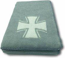 Alpenwolle Wolldecke Eisernes Kreuz Tagesdecke