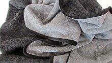 Alpenwolle Wollplaid doppelseitig Anthrazit