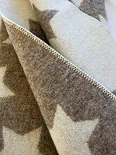 Alpenwolle Wollplaid, Tagesdecke Sternchen