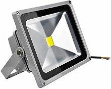 ALPHA DIMA 30W LED Flutlicht-Außenleuchte, Kaltweiß,IP65-konform