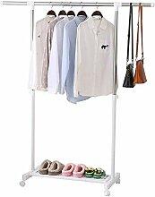 ALPHA HOME Kleiderständer auf Rollen ausziehbar