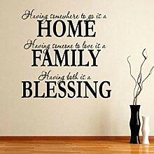 Alphabet Buchstaben Aufkleber Haus Familie Segen