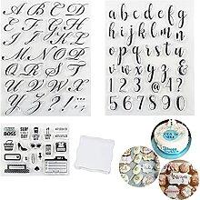 Alphabet-Kuchenstempel, Alphabet- und Zahlen,