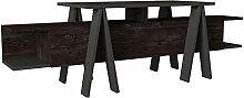 Alphamoebel 5088 Aspero Wohnwand TV Lowboard Board