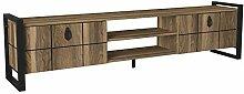 Alphamoebel TV Lowboard, Holz, Braun, 184,5 x 45 x