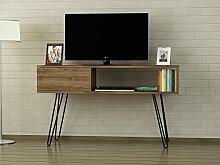 Alphamoebel TV Lowboard, Walnuss, 120 x 29,5 x