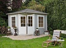 Alpholz 5-Eck Gartenhaus Modell Monica, 28 mm