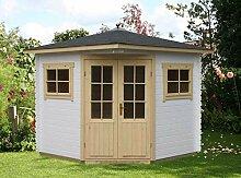 Alpholz 5-Eck Gartenhaus Modell Sunny-A, 28 mm
